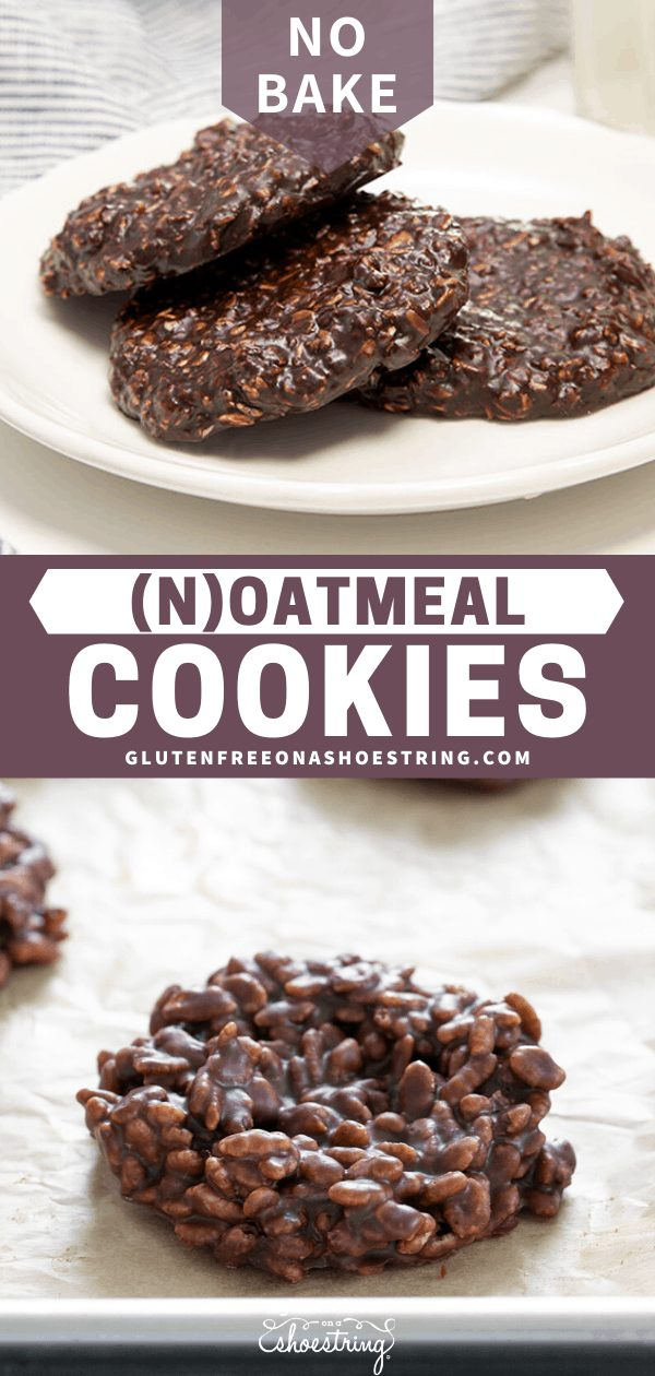 No bake oatmeal cookies are the classic chocolate no bake cookie you remember, made with or without peanut butter—even with or without oats. Naturally gluten free!