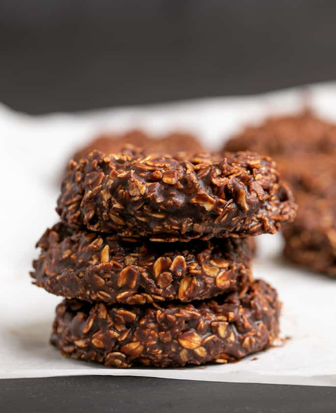 Chocolate No Bake Oatmeal Cookies Without Peanut Butter