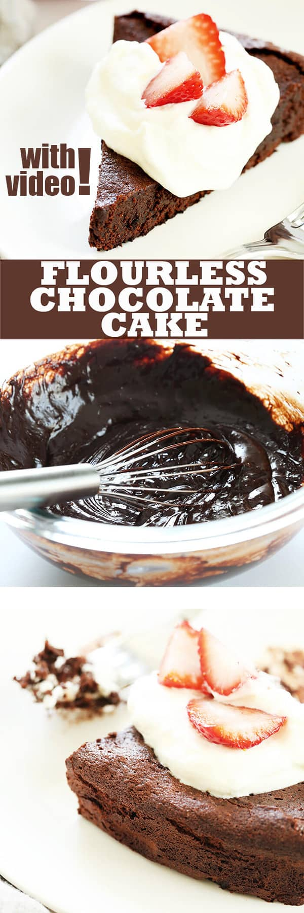 A flourless chocolate cake is one of those restaurant-style desserts that it's tempting to think is too fussy to make at home. It's naturally gluten free, and easy to whip one up at home any time.