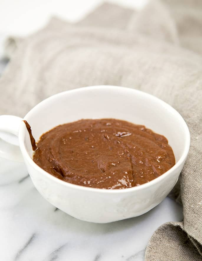 This flourless chocolate mug cake is rich and decadent enough for a single-serve dessert, and healthy enough to have for breakfast.