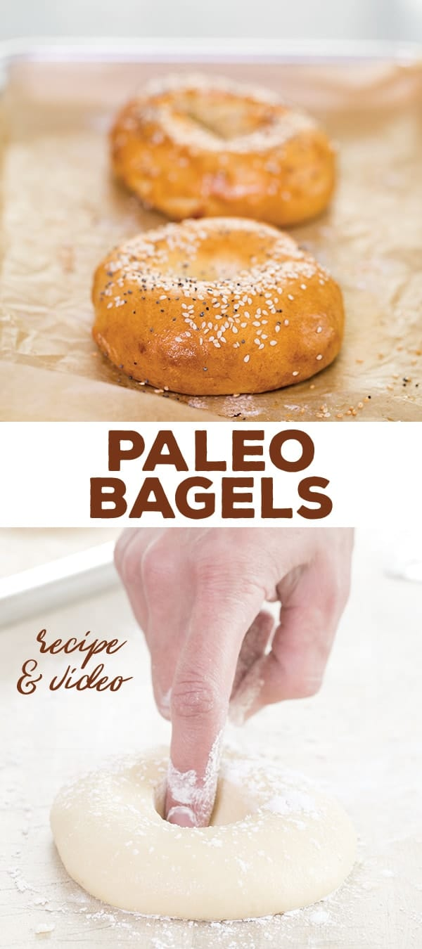 """These authentic-tasting Paleo bagels have no gluten, grains or dairy, but you'd never know it wasn't the """"real thing."""" Just a few ingredients, including almond and tapioca flours, are all it takes!"""