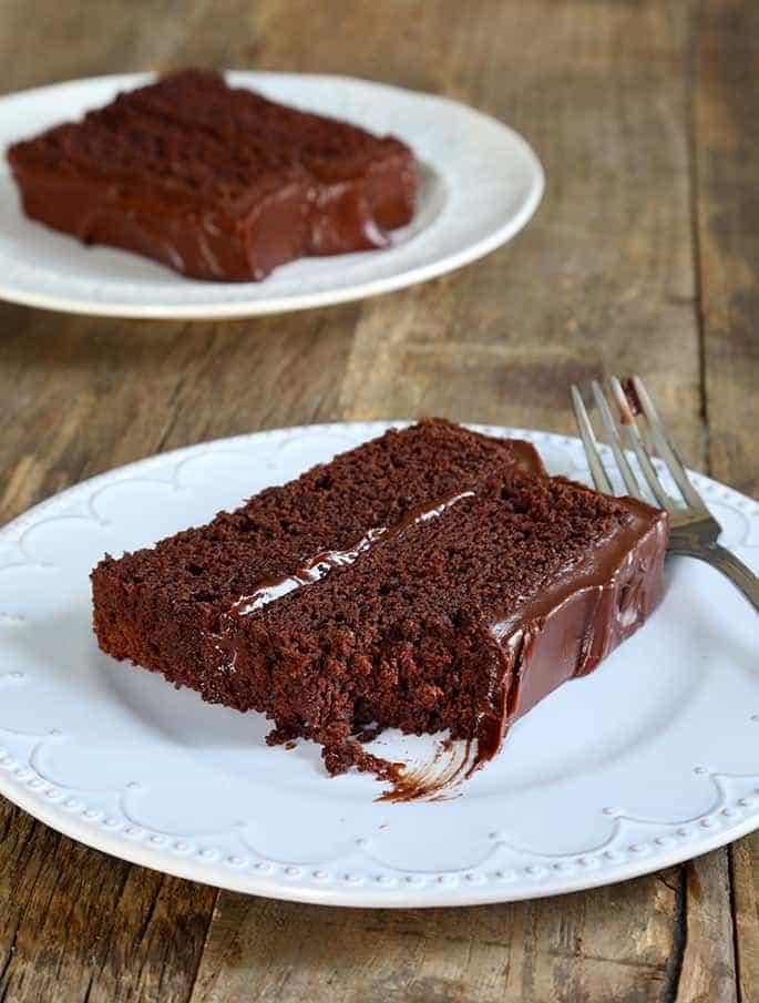 Gluten free chocolate fudge cake.