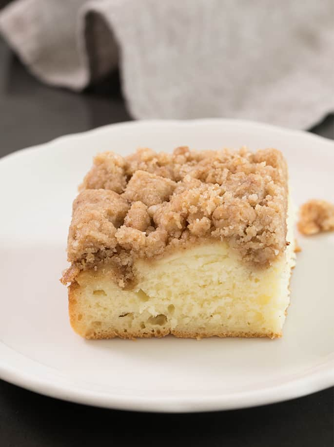 This gluten free apple Bisquick coffee cake is a riff on the famous velvet crumb cake, made with everyone's favorite crumble topping. Perfect for brunch, or a snack!