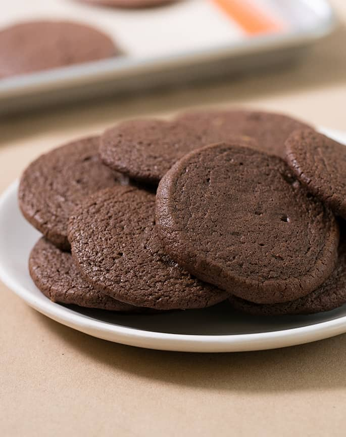 These gluten free brownie cookies have all the richness of brownies in a soft, chewy and tender cookie. They're made without chocolate chips because they don't need them!