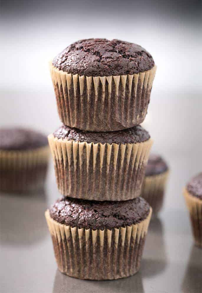 These special flourless chocolate cupcakes are naturally gluten free and dairy free, and rich and incredibly moist. They're made with soaked quinoa instead of any sort of flour, but you'd never know it!