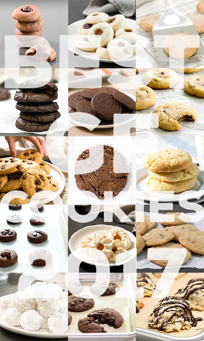 These are the 15 best recipes for gluten free cookies in all of 2017. It's been a great year!