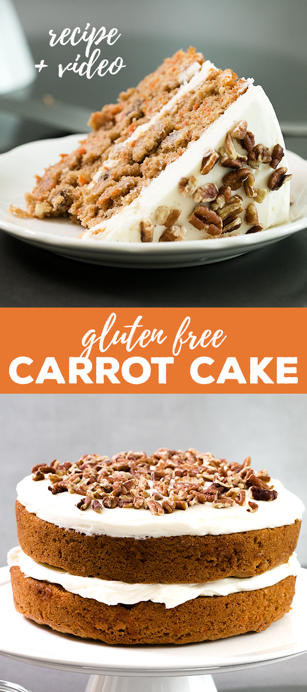 A whole carrot cake and a slice of it on a plate