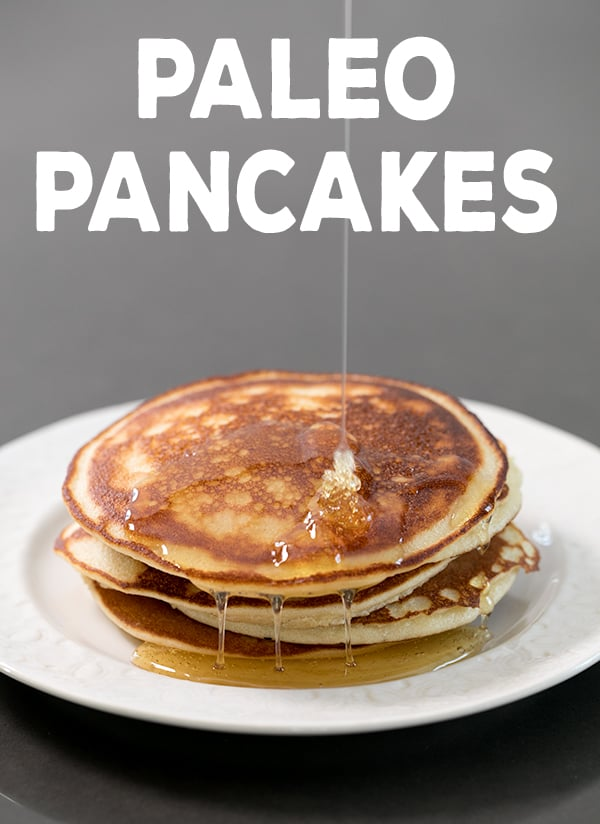 These lightly sweet Paleo pancakes are made with almond flour, so they're naturally low carb and actually taste like