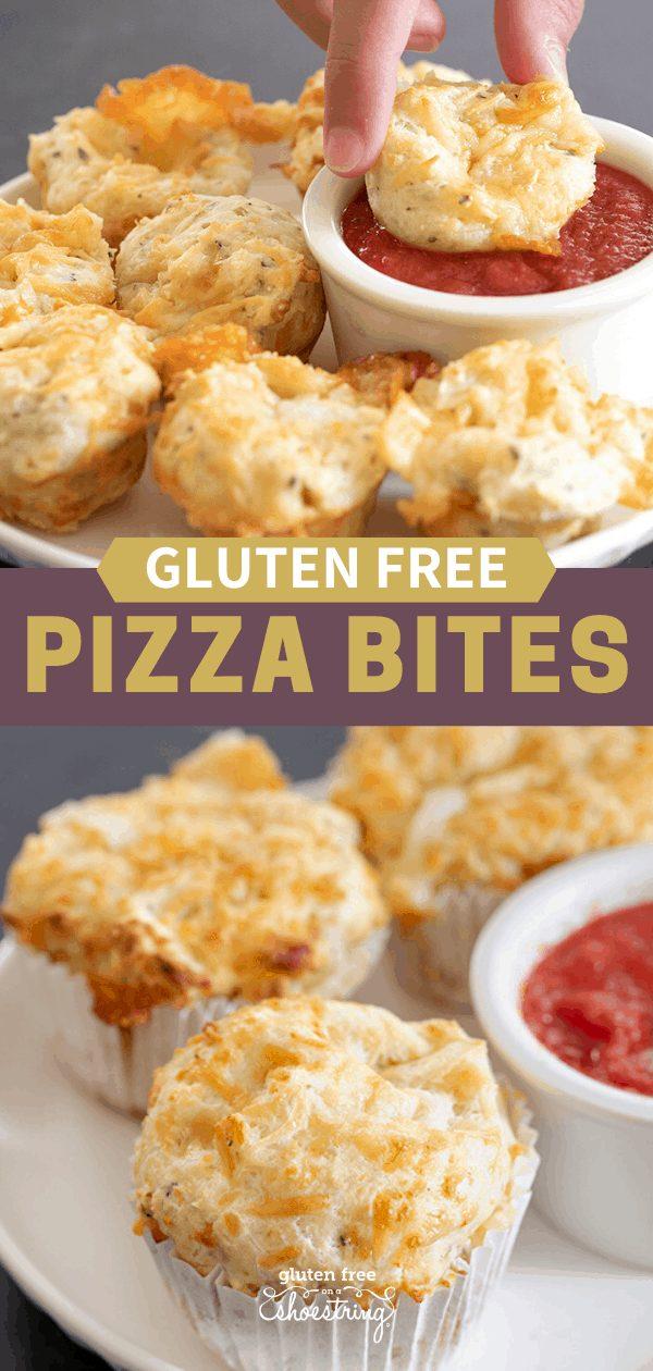 Gluten free pizza bites mini and large sizes