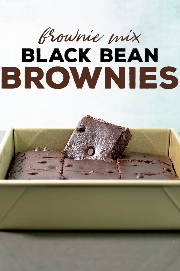 Just 4 ingredients are all it takes to make these brownie mix black bean brownies—5 if you add some chocolate chips! They're incredibly moist, low in fat and have a rich chocolate taste. #blackbeanbrownies #quickandeasy #glutenfree #dairyfree #gf
