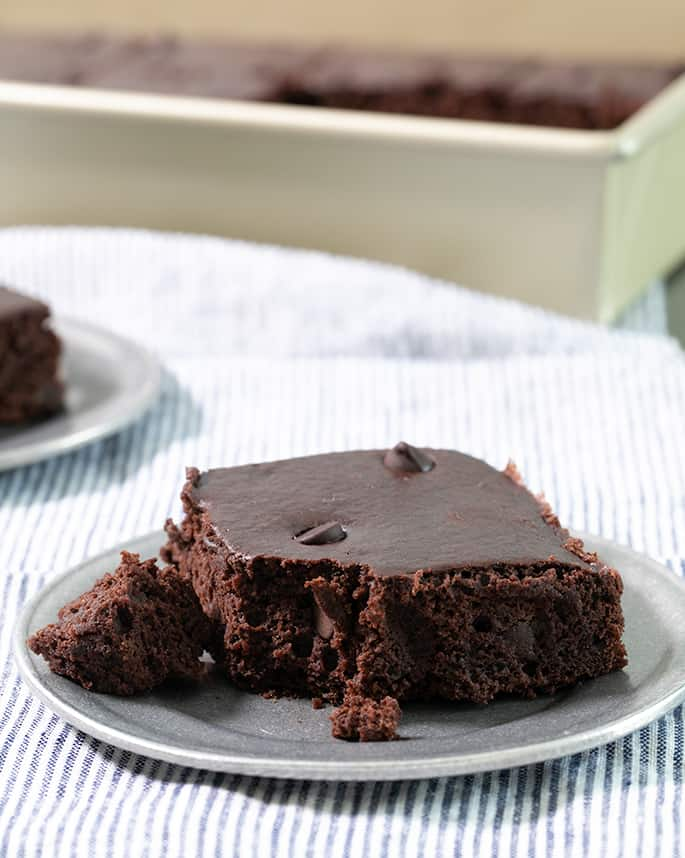 Just 4 ingredients are all it takes to make these brownie mix black bean brownies—5 if you add some chocolate chips! They're incredibly moist, low in fat and have a rich chocolate taste.