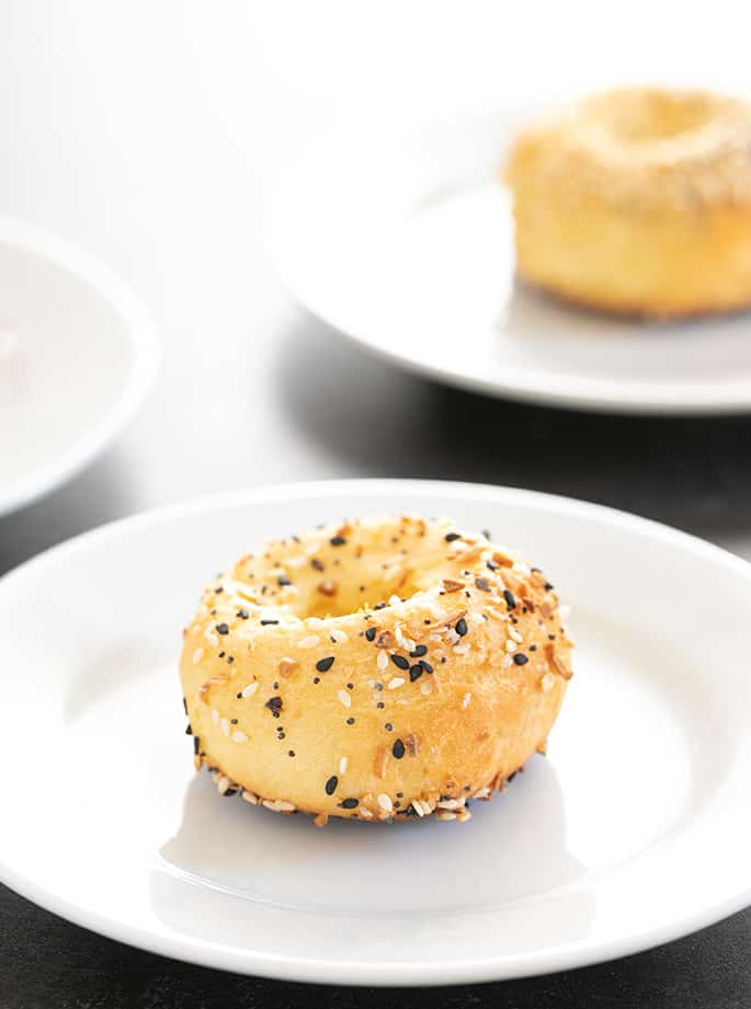 WW 2 Ingredient bagel on a plate