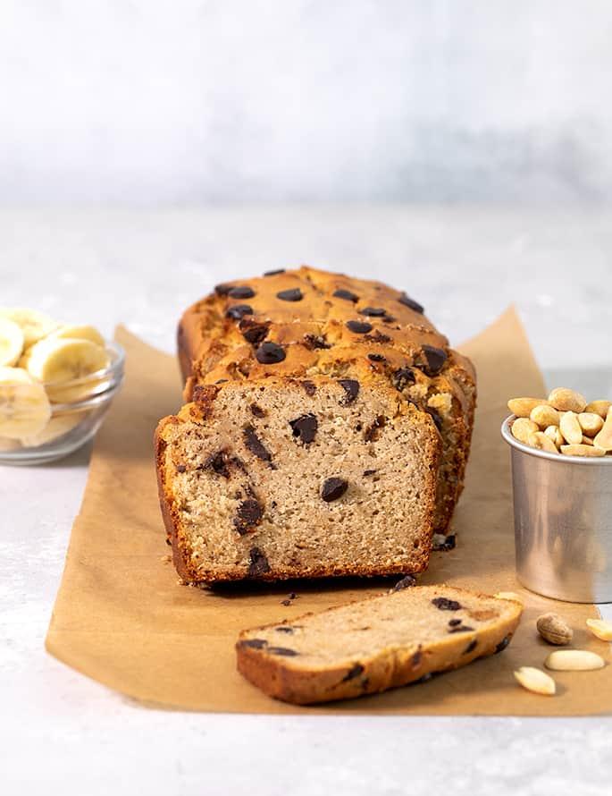 Peanut Butter Gluten Free Banana Bread