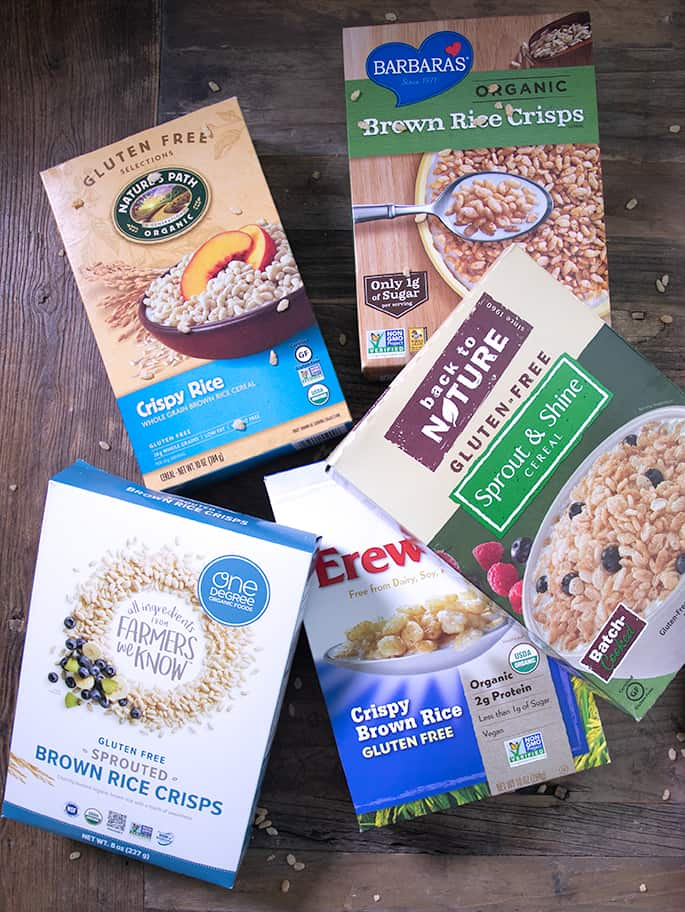 Rice Krispies are not gluten free, but I've got 5 brands of crisp rice cereal that are gluten free. Plus, my favorite way to make extra-soft traditional rice crispy treats.