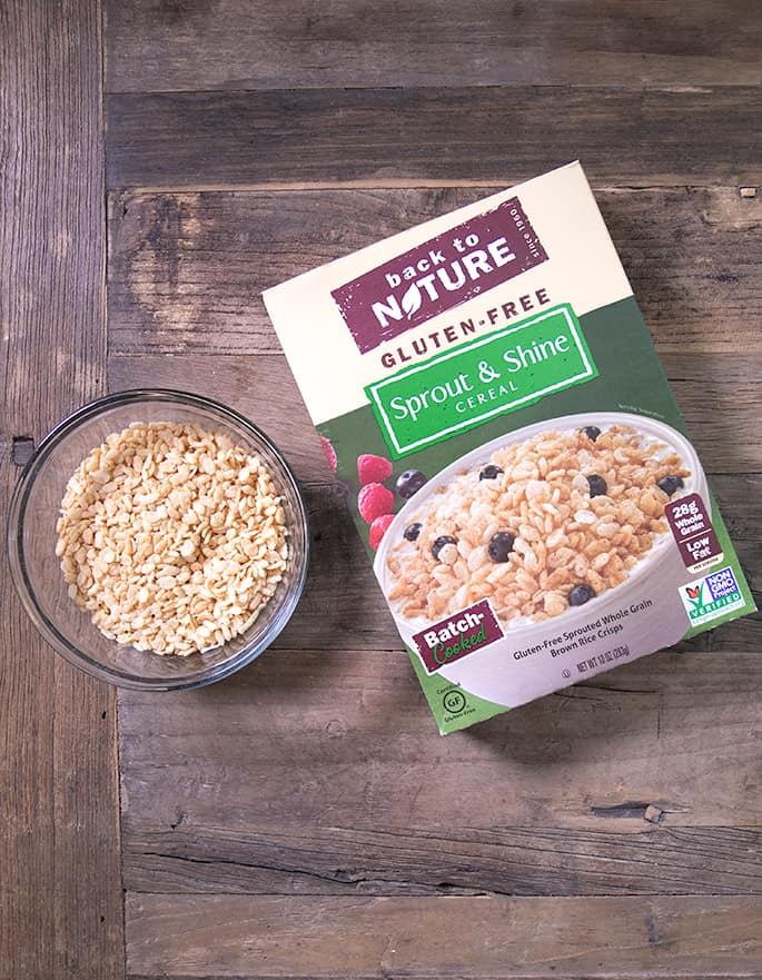 Rice Krispies are not gluten free, but I've got 5 brands of crisp rice cereal that are gluten free, like Back to Nature Sprout and Shine Cereal.