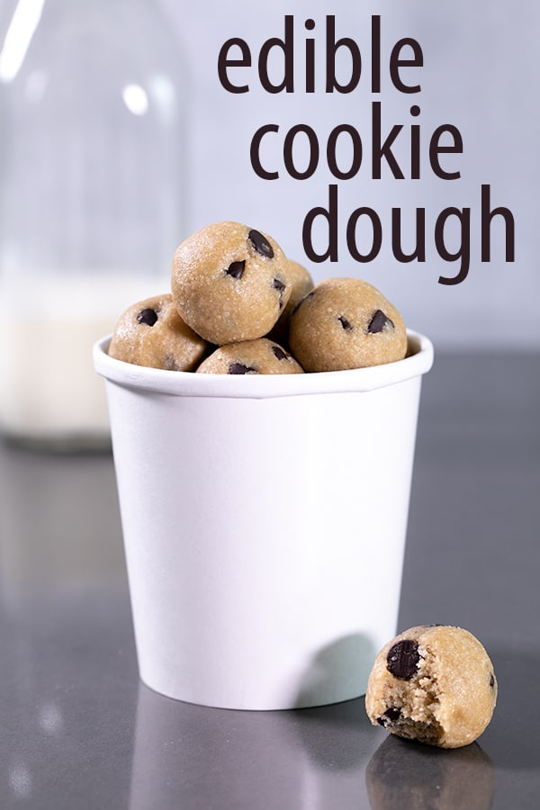 Just for eating, not baking, this eggless edible cookie dough recipe is made with oats for a safe, delicious treat—all without turning on the oven. Have your dough and eat it too! #cookiedough #cookiedo #glutenfree #gf #nutfree