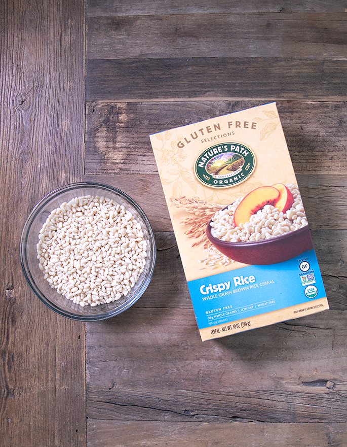 Rice Krispies are not gluten free, but I've got 5 brands of crisp rice cereal that are gluten free, like Nature's Path Crispy Rice cereal