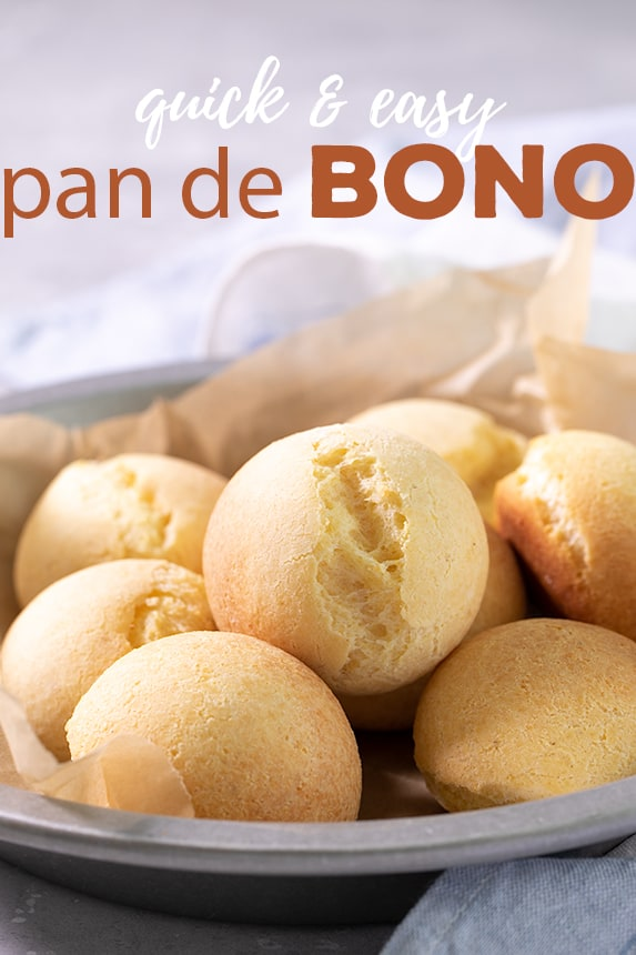 Pan de bonois a magic combination of crumbly cheese, corn flour, a starch, and an egg. It might be the easiest, naturally gluten free bread you'll ever make. #glutenfree #gfbread #pandebono #naturallyglutenfree #naturallygf
