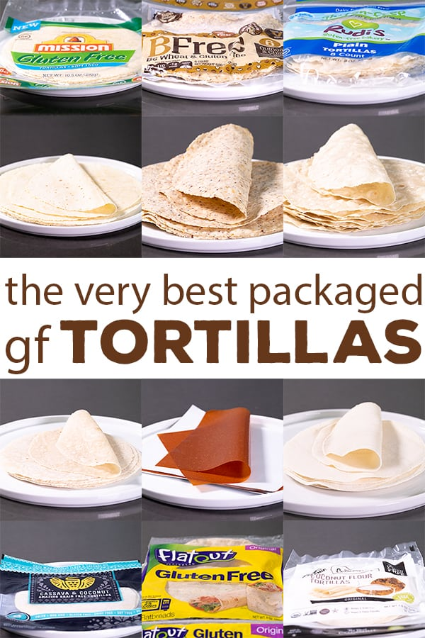 If you love tortillas but can't always make your own, here are 8 of the very best gluten free tortillas brands to try. They're so versatile, and there are even some amazing Paleo-style wraps on the list! #glutenfree #gf #tortillas #gftortillas #gfwraps #productreview