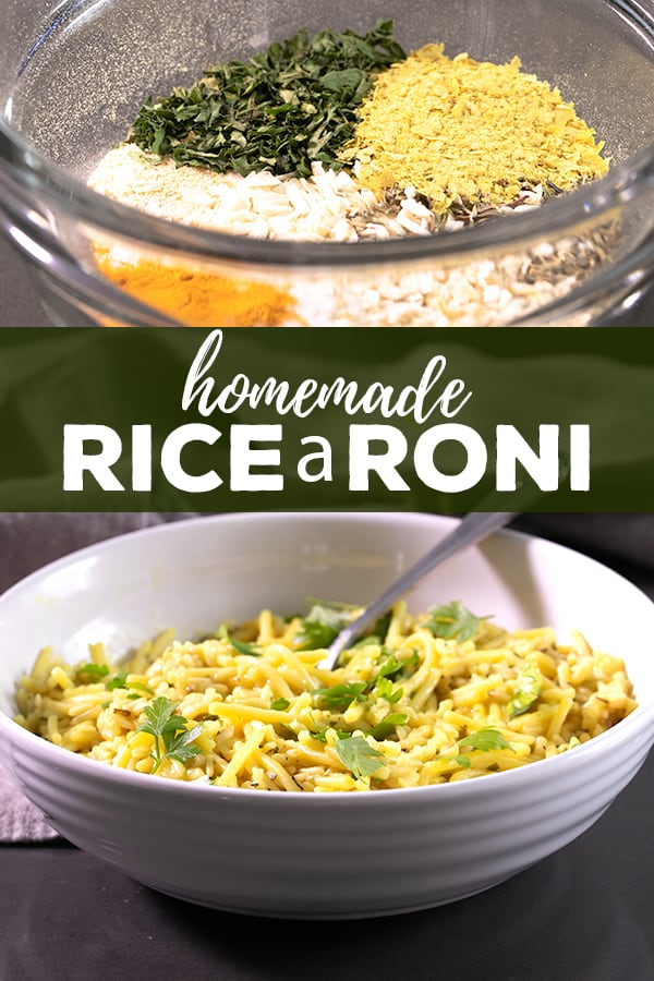 Make your own gluten free rice a roni dish with all the right flavors, and make a great meal tonight in no time at all. Add some protein, or leave it plain. #ricearoni #homemade #dinnertonight #glutenfree #gf
