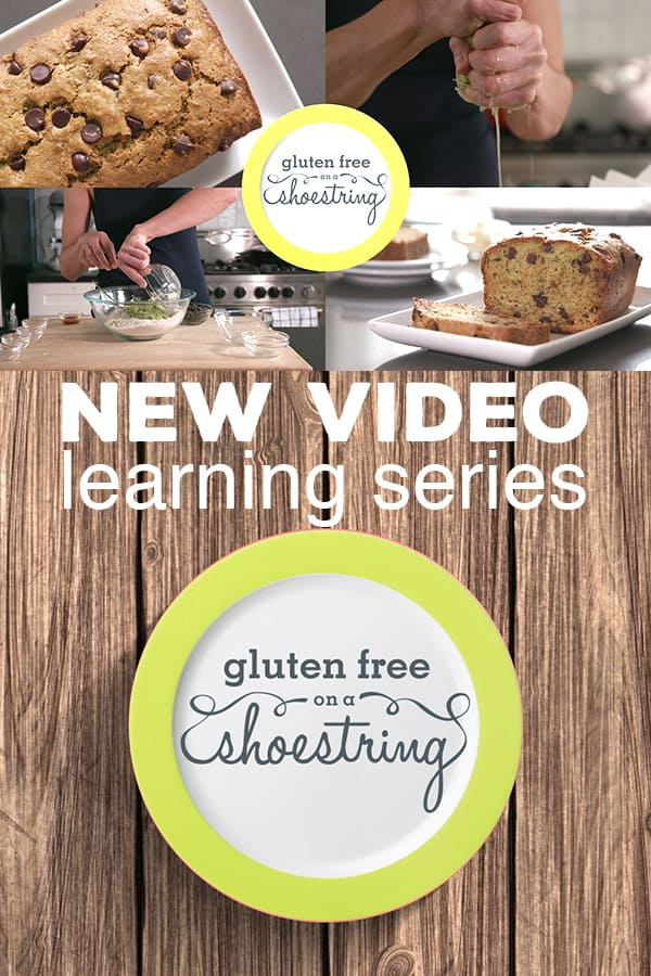 I've been teaching how to make GF food since 2009. With this brand new gluten free recipe video series, I can finally show you in my own kitchen. Join me! #glutenfree #zucchinibread #learntocook #video