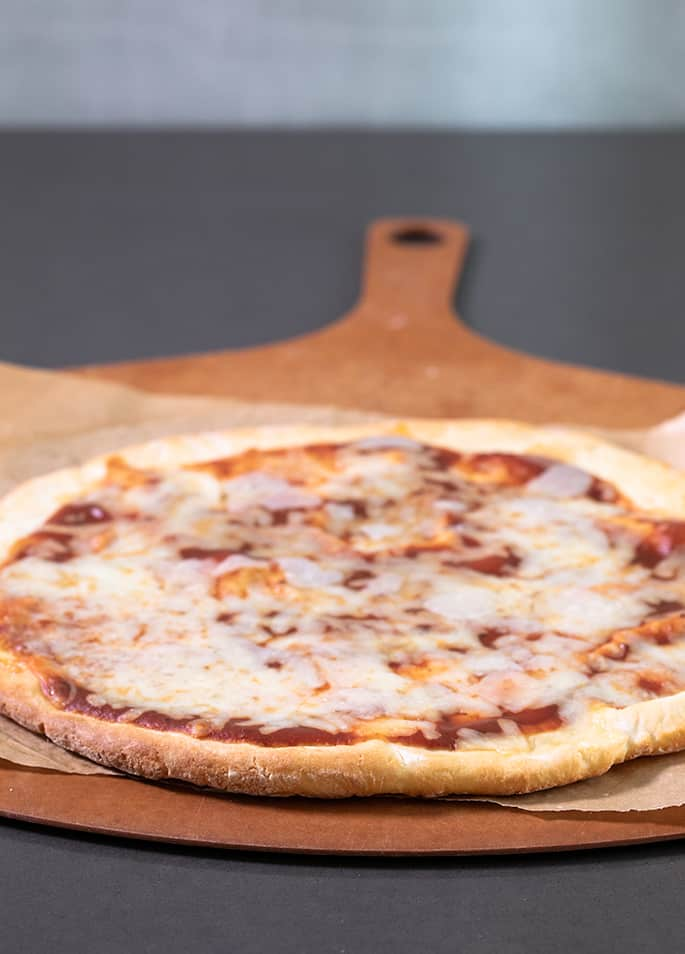 This Weight Watchers gluten free pizza has no yeast and is ready in minutes. At less than 2 SmartPoints per slice, it has all the taste and texture you miss.