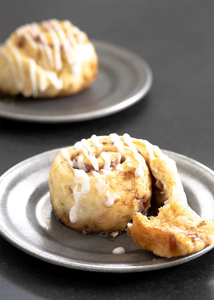 Sweet, tender gluten free cinnamon rolls made with an all purpose gluten free flour and instant yeast. Make weekend mornings special!