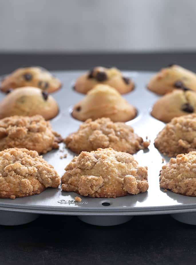 This easy gluten free muffins recipe is perfect for adding mix-ins like chocolate chips or topping with a simple crumble.