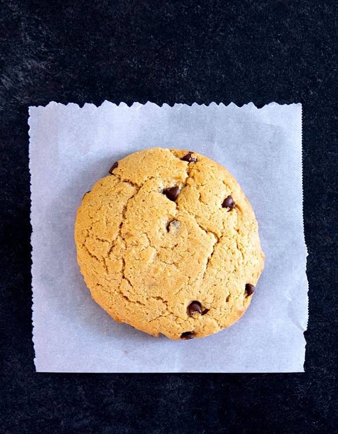 These easy chocolate chip peanut butter protein cookies are made in one bowl, with high-quality whey protein, smooth peanut butter, and just a touch of honey.