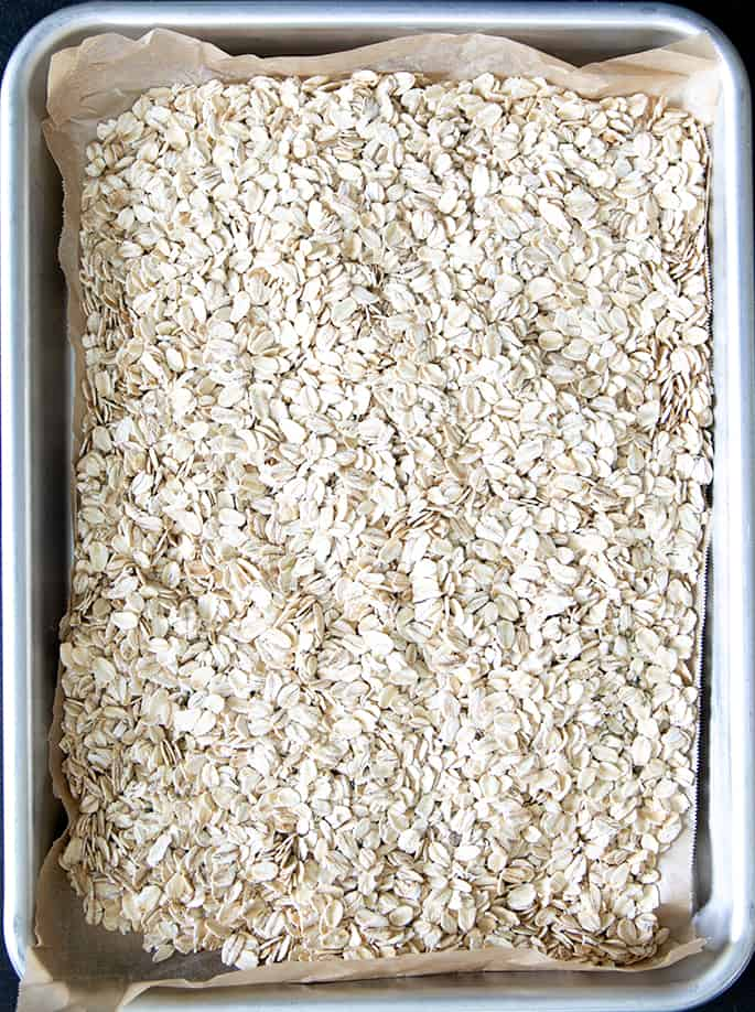 This easy homemade muesli recipe is made with just a few basic pantry ingredients, and you can use it to make porridge or enjoy it as a breakfast topping.
