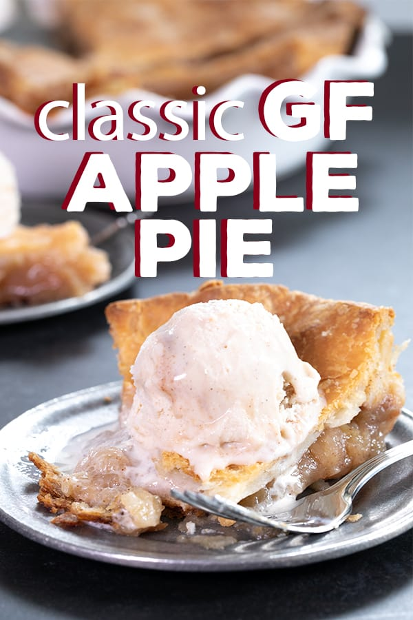 Baking your gluten free apple pie in a bag ensures perfect fork-tender apples and a light and flaky, perfectly browned crust every time. #Thanksgiving #GF #glutenfree #pie