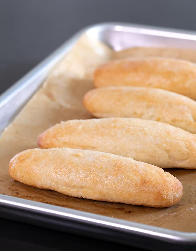 This recipe for soft and tender Weight Watchers gluten free breadsticks is made with gluten free flour, baking powder, salt, and Greek yogurt, but tastes like yeast bread.