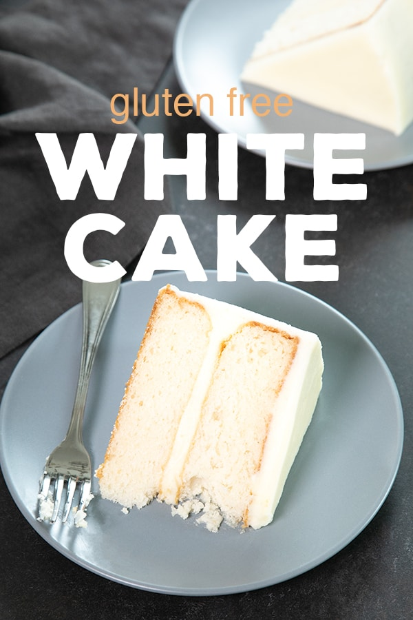 This bakery-style gluten free white cake, made without any egg yolks, is the perfect moist and tender blank canvas to dress up for any occasion. #glutenfree #gf #cake #dessert