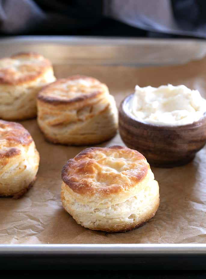 """Learn to make a few puff pastry-style """"turns"""" of this super simple dough, and you'll know how to make gluten free biscuits with layers and layers. You'll never want to make them any other way."""