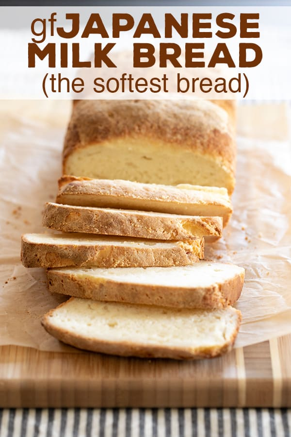 This super simple recipe for gluten free Japanese milk bread makes the softest recipe for batter-style gluten free bread you've ever seen, or tasted! #glutenfree #bread #gf #sandwichbread
