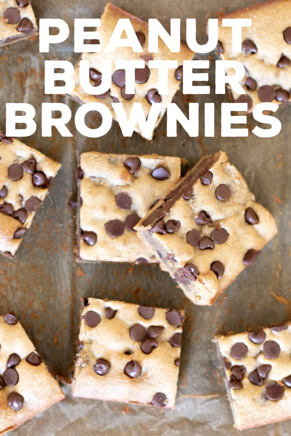 Rich in peanut butter flavor, these super chewy blonde brownies are made without any dairy or grains and they're naturally gluten free. #glutenfree #dairyfree #grainfree #peanutbutter