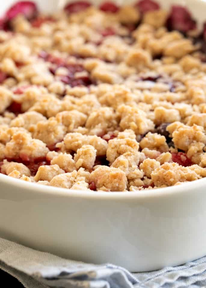 Turn your favorite fruit of the season into a show-stopping dessert with this master gluten free crumble recipe.