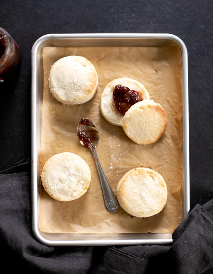 Light, flaky and extra tender, this recipe for gluten free cream cheese buttermilk biscuits is the foolproof formula for biscuits you've been looking for.