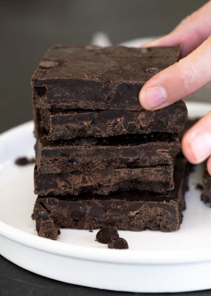 No Bake Brownies (3 Ingredients)
