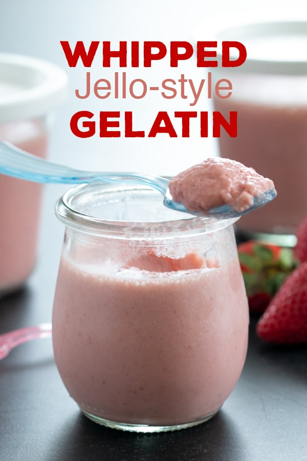 This easy whipped JELLO-style gelatin recipe with a mousse-like texture and fresh fruit flavor is the perfect no-bake easy, light dessert for warmer months.#jello #gelatin #nobake #dessert #mousse