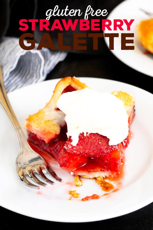 When fresh strawberries are in season, this rustic, simple gluten free strawberry galette is the perfect way to let them shine. #glutenfree #gf #strawberries