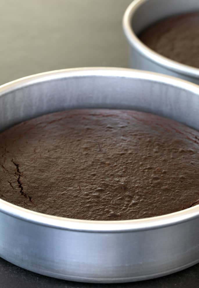 A moist and tender Paleo chocolate cake that's rich in chocolate flavor, but not too sweet. Layer it with a deep chocolate frosting, and let's celebrate!