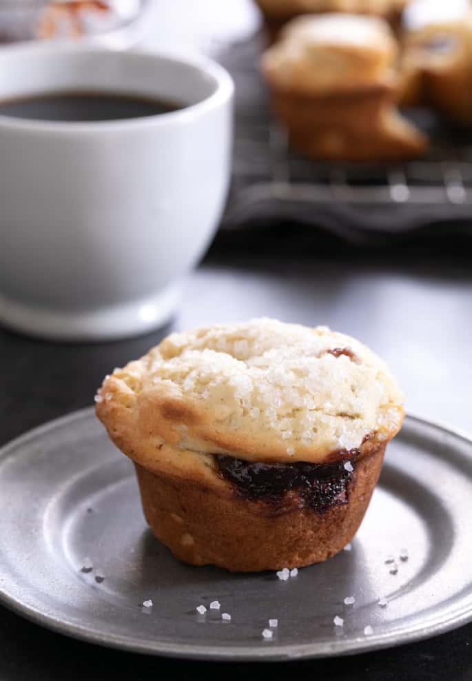 Gluten Free Donut Muffins | Jam Filled