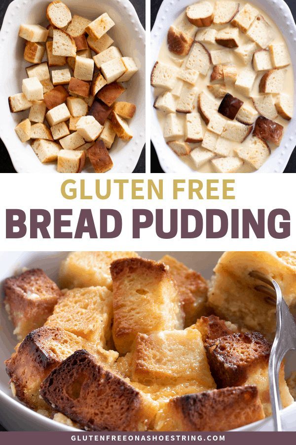 If you've ever wondered what to do with leftover gluten free bread, this easy recipe for gluten free bread pudding is the answer. You'll never waste another crumb!