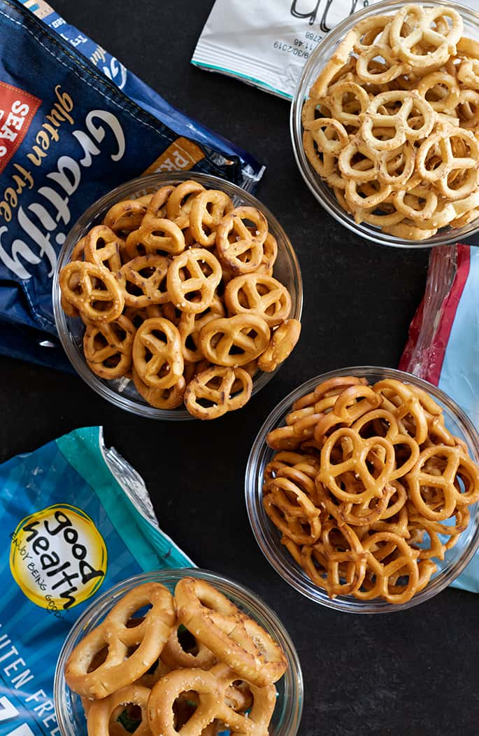 Gratify, Good Health Enjoy Being Good, Live G Free, and Quinn Gluten Free Pretzel brands are four more tasty brands to try.