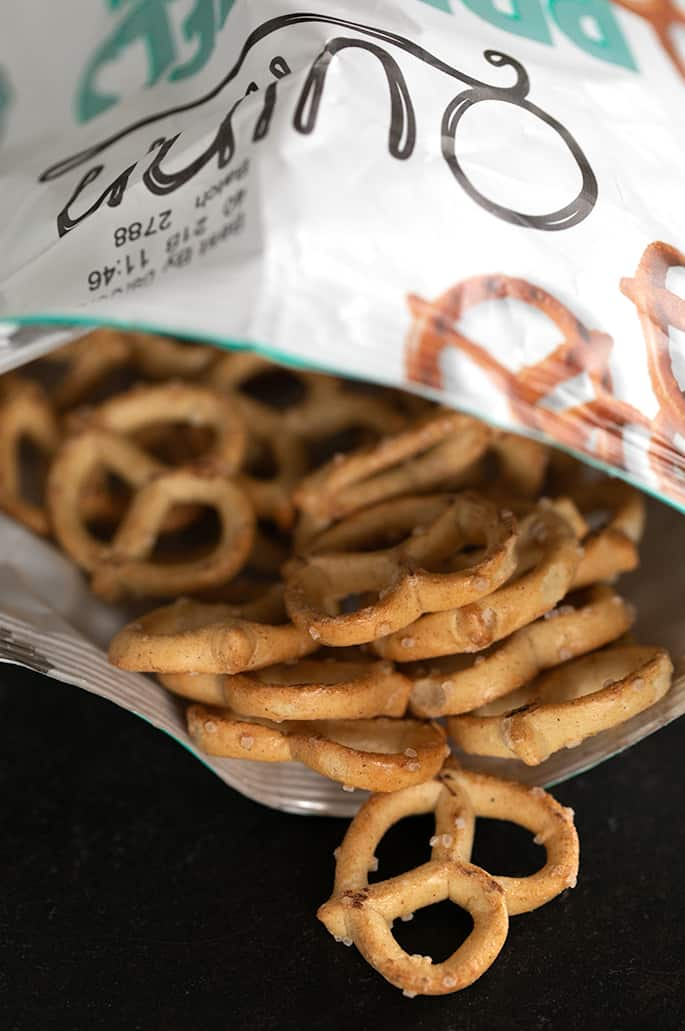 Quinn brand gluten free pretzels are undoubtedly the strangest choice of the bunch, but they're a personal favorite of mine for their whole grain goodness and extra-snappy texture. They do have something of an unpleasant aftertaste, and recommend you stay far, far away from their stranger flavors (like cauliflower).