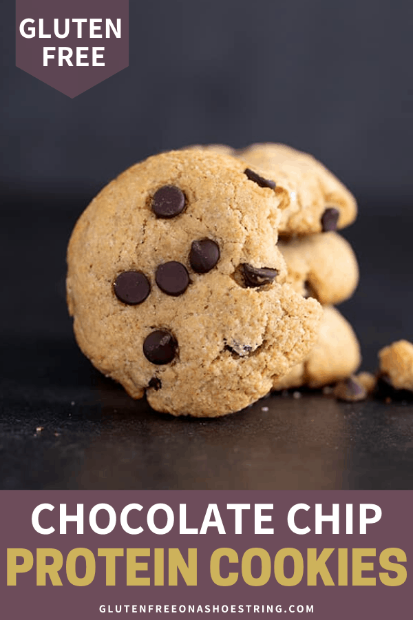 These chocolate chip protein cookies are made with almond and coconut flours, and 6 grams of protein per cookie.