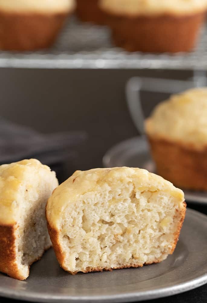 Dairy Free Gluten Free Banana Muffins | Low-Fat