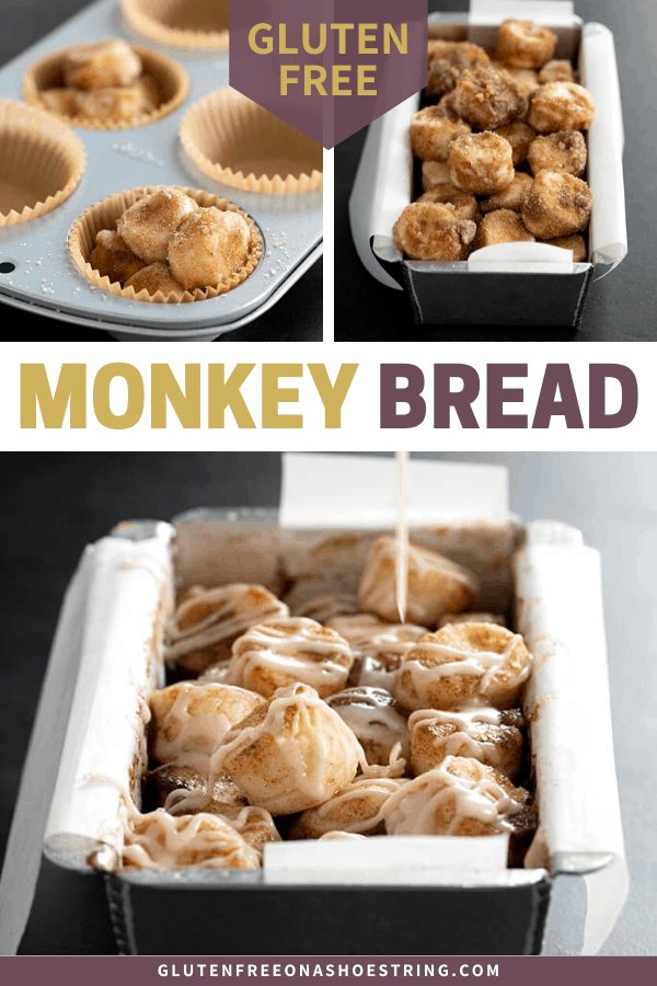 This recipe for gluten free monkey bread is easy to make, especially for the little hands of little kitchen helpers, and makes the house smell like warm, cinnamon goodness!