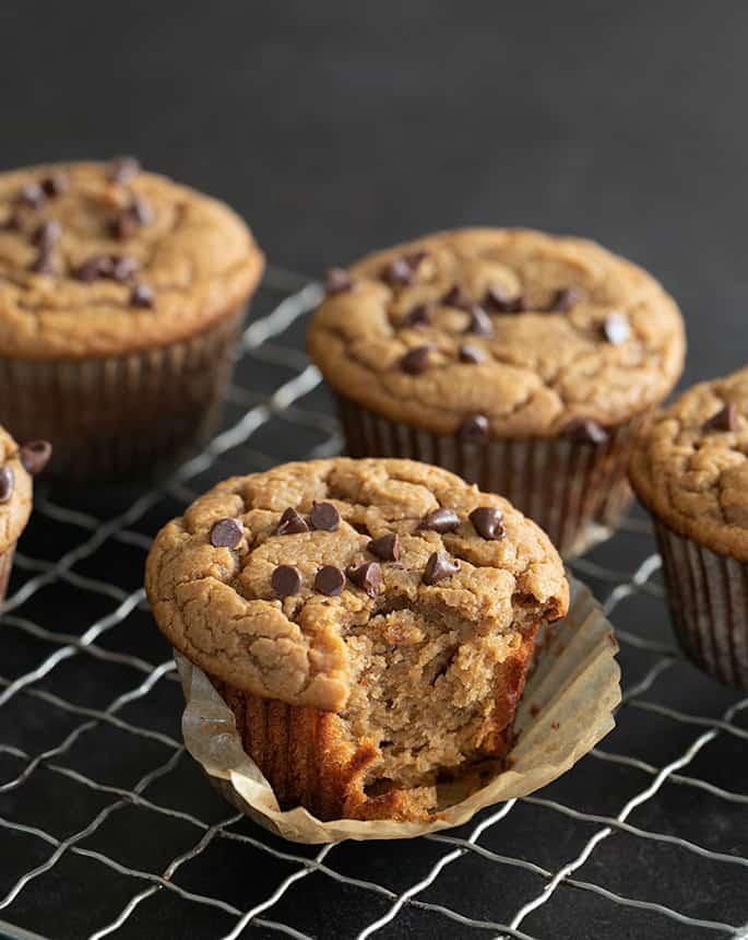 Flourless Peanut Butter Muffins | Grain Free